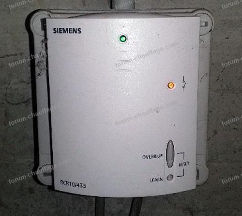 panne chaudière suite changement pile du thermostat