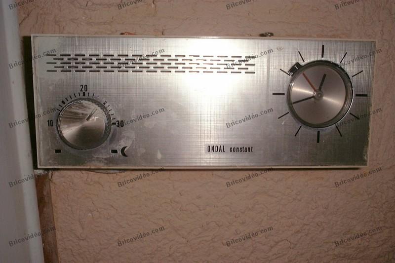 photo ancien programmateur thermostat