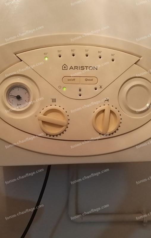augmenter pression chaudière Ariston