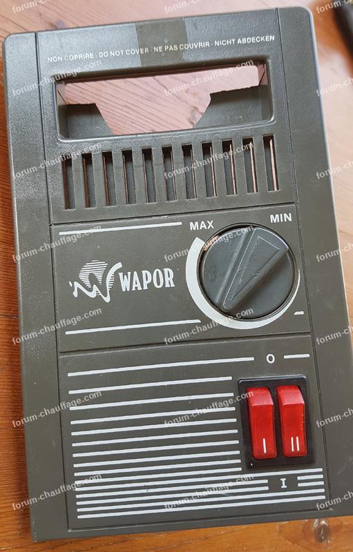 branchement radiateur bain d'huile Wapor