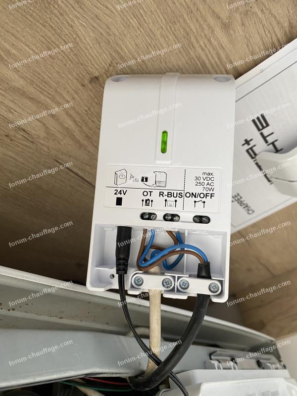 branchement thermostat Emolife