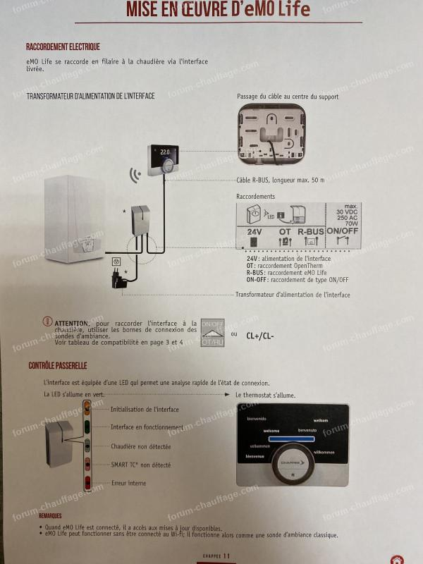 branchement thermostat emolife 2