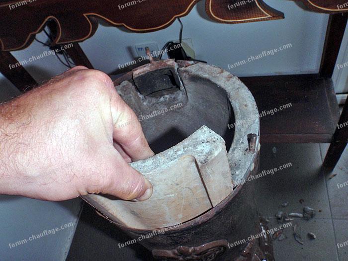 réfractaire Godin 3721A fourni remplacement ovale quelqu'un dispose contient l'intérieur mien  # Poele A Bois Pierre Refractaire