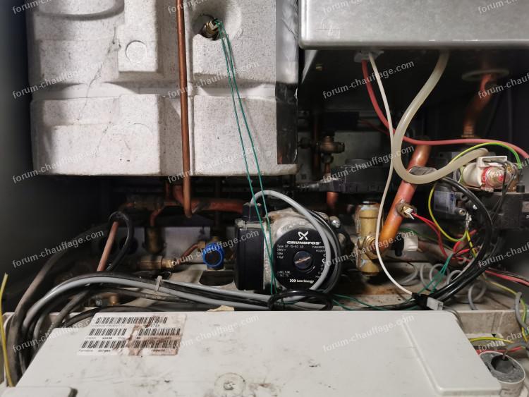 changement vanne et moteur chaudière Chappée initia duo 3.24FF