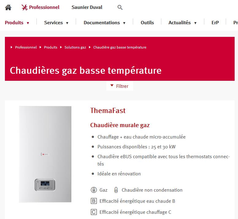 Forum Chauffage  Chaudière Saunier Duval Themafast C25