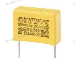 condensateur anti parasite mkp x2 sortie radiale 0.68 f 275 v ac 10 tru components mkp x2 l x l x h 26.5 x 10 x 19 conra 2019 03 19 09 49 38