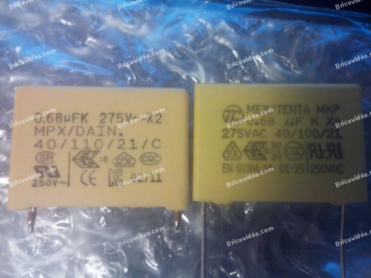 condensateurs X2 pas polarisés