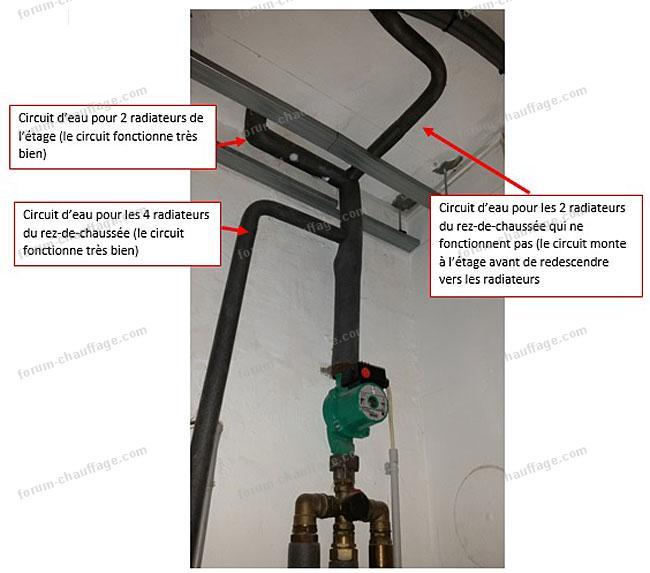 probl me installation de chauffage 2 radiateurs ne. Black Bedroom Furniture Sets. Home Design Ideas