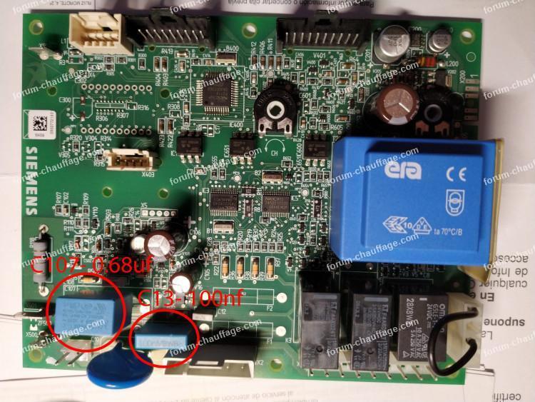 error 133E remplacer condensateurs C107 et c13