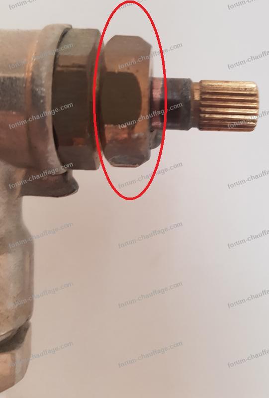 fuite robinet radiateur chauffage 1
