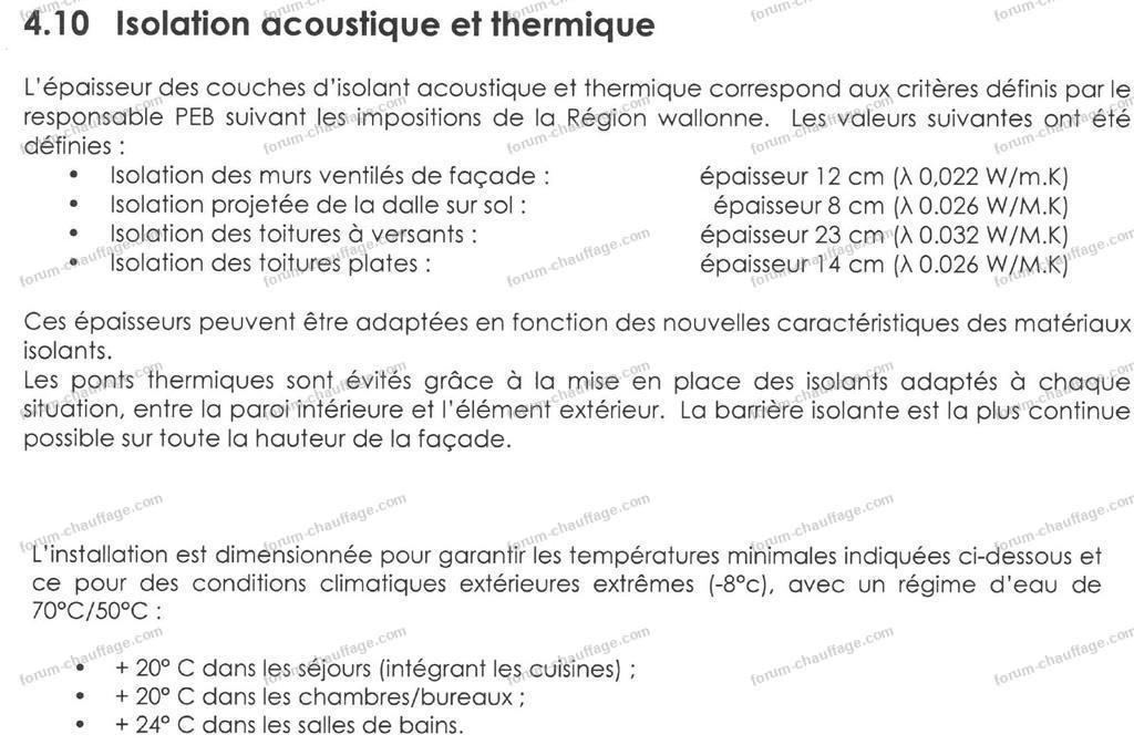 isolation acoustique et thermique