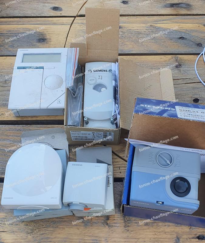 matériel pour installation thermostat sur chaudière Vaillant