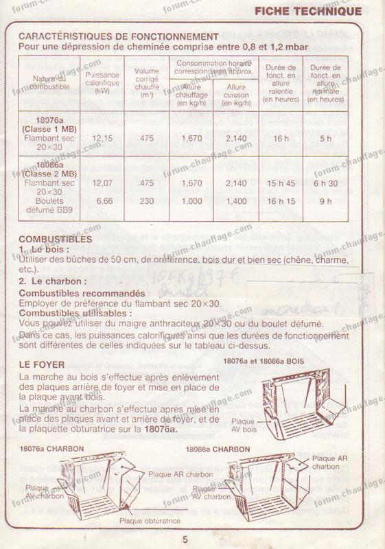 Problème cuisinière à bois Rosières 18076 qui fume  Forum Chauffage Maison