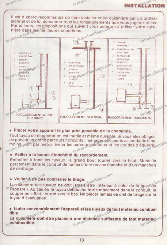 Problème cuisinière à bois Rosières 18076 qui fume  Forum