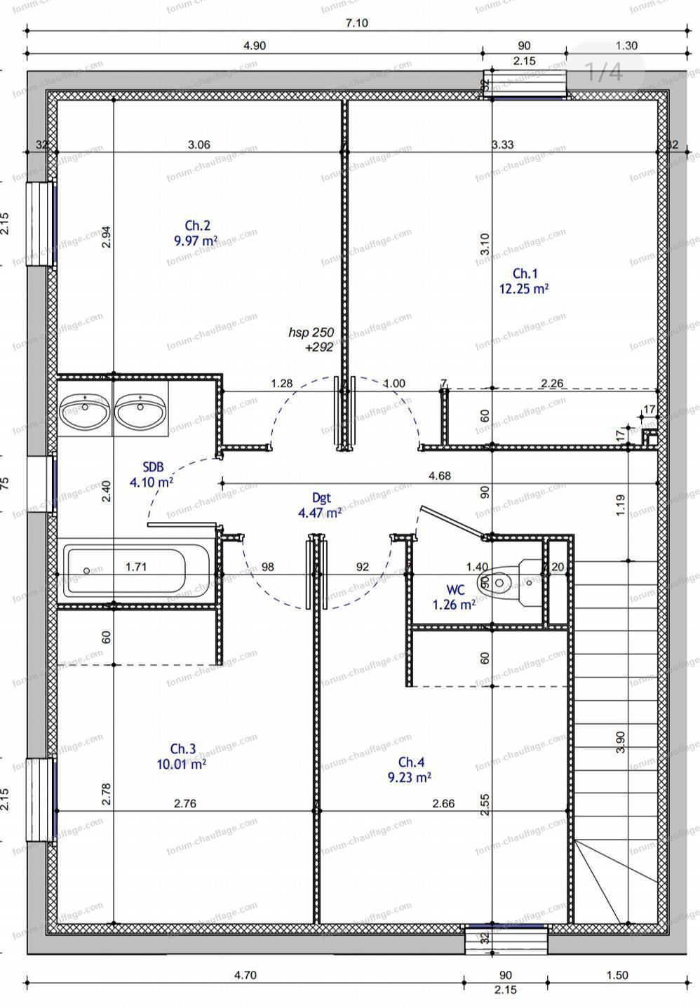 plan installation chauffage maison