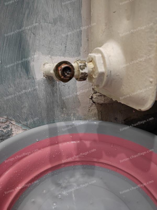 problème robinet radiateur