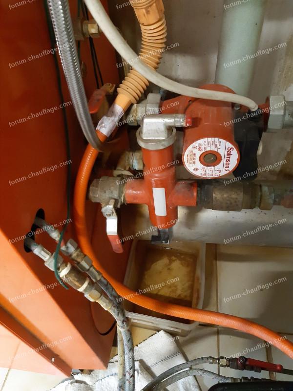 problème surpression eau chaude chaudière