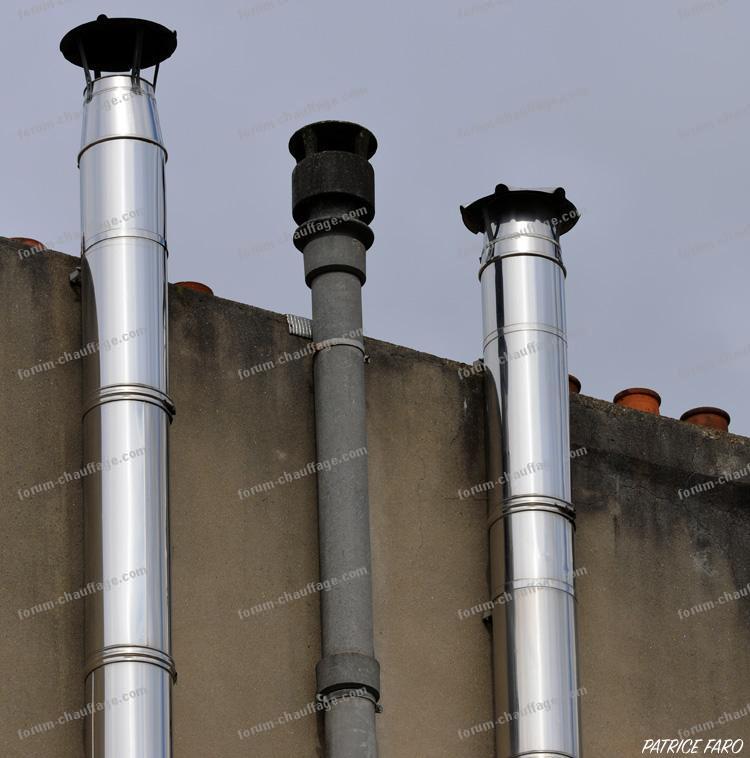 Coût tubage cheminée maison en bois type chalet.   Devis installation chauffage.