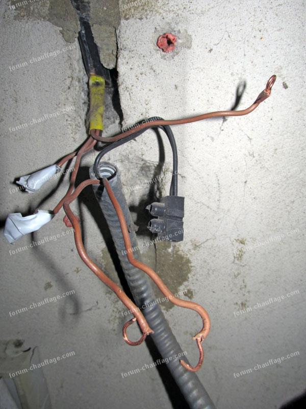 raccordement électrique pompe de circulation