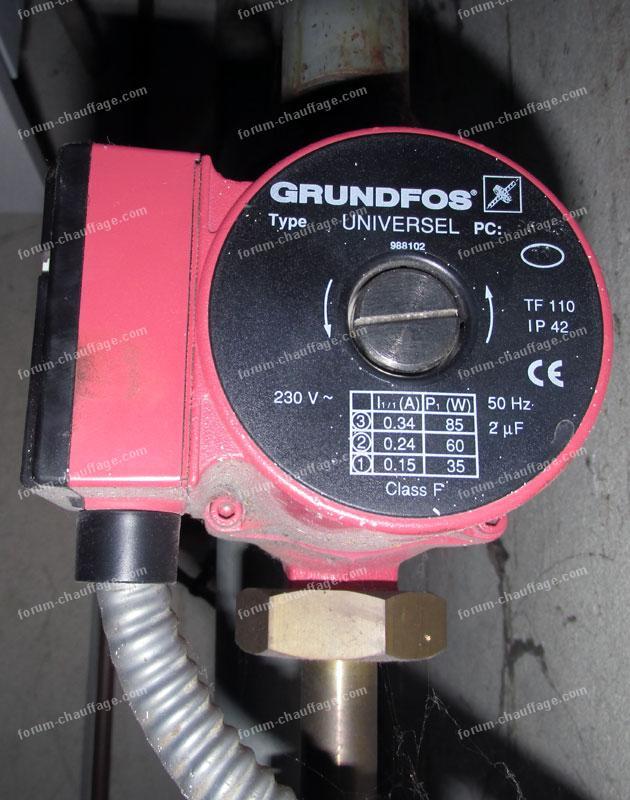 raccordement électrique circulateur