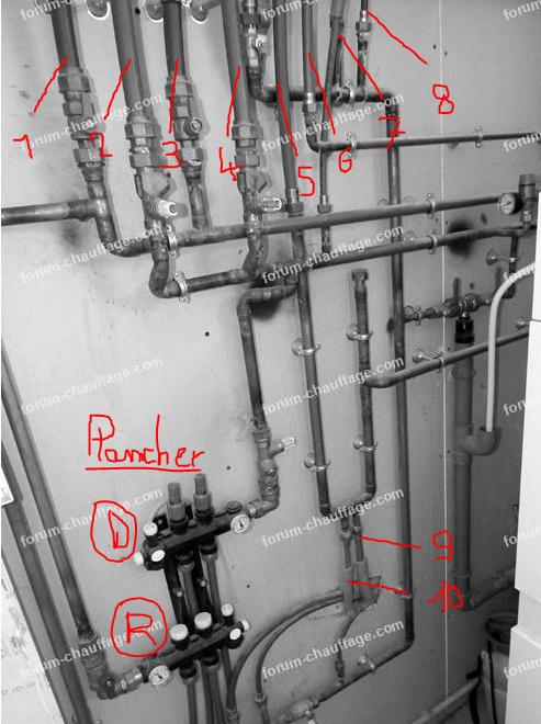 Raccordements hydraulique chaudière Viessmann