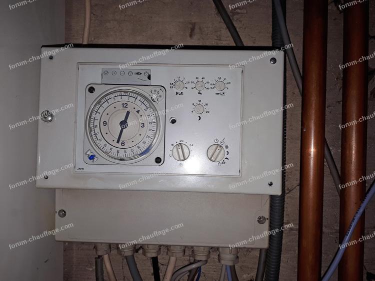 réglage température d'un plancher chauffant