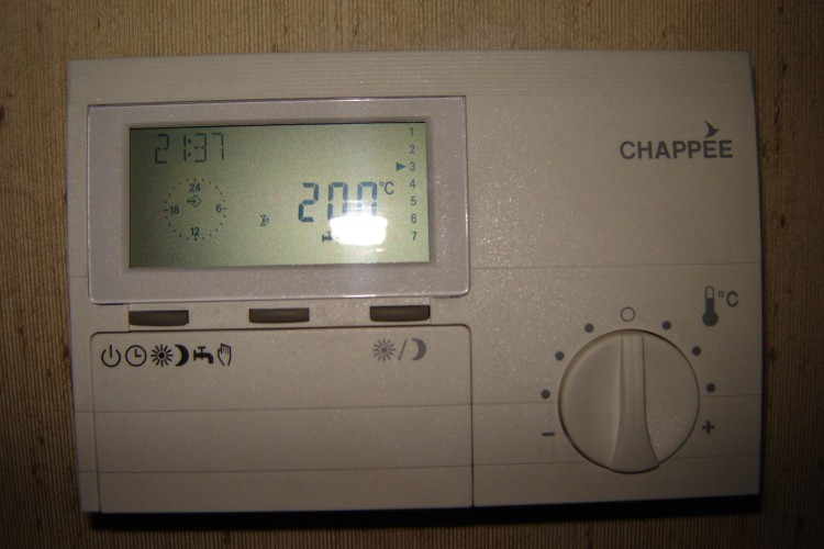 Surchauffe chaudi re chapp e moor a ecs code brancher thermostat hte voies vanne insert - Reglage thermostat chauffage gaz ...
