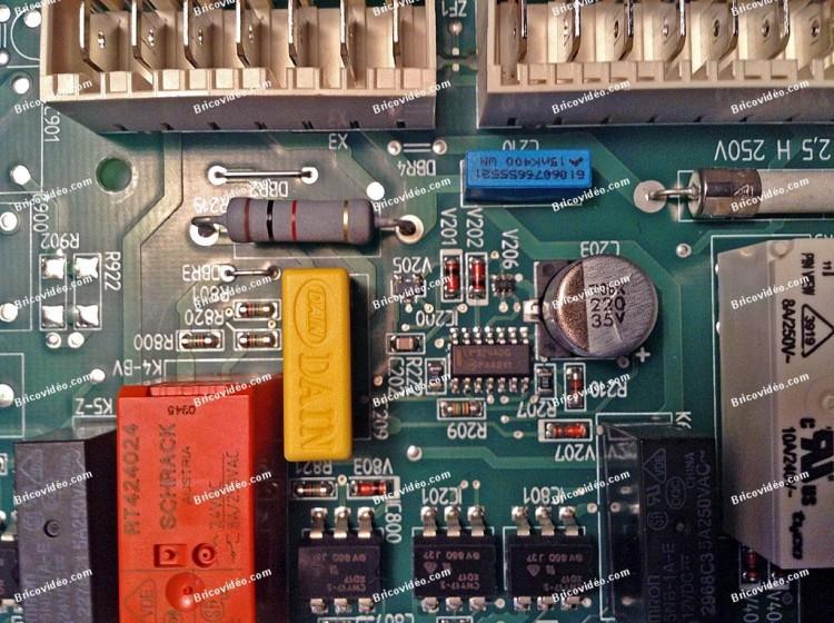 remplacement condensateur c 209