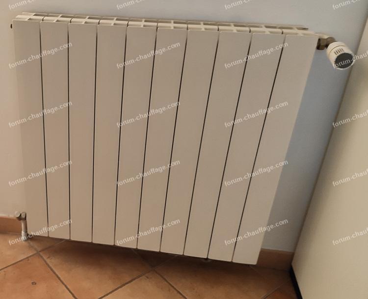 remplacer radiateur chambre 12 elements