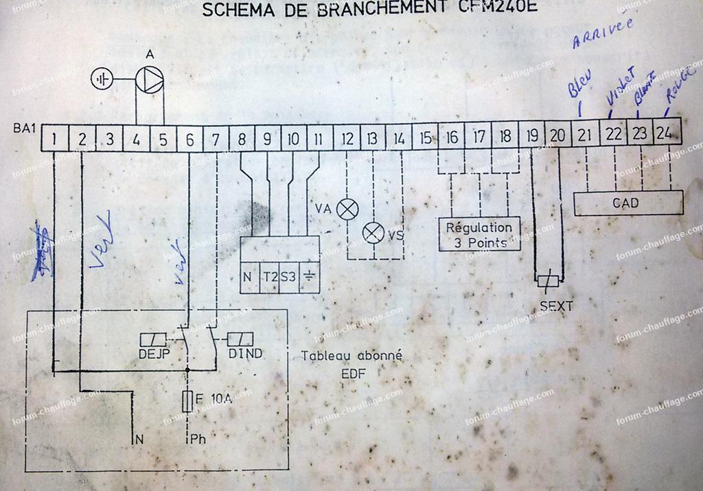 schéma branchement thermostat Nest HeatLink