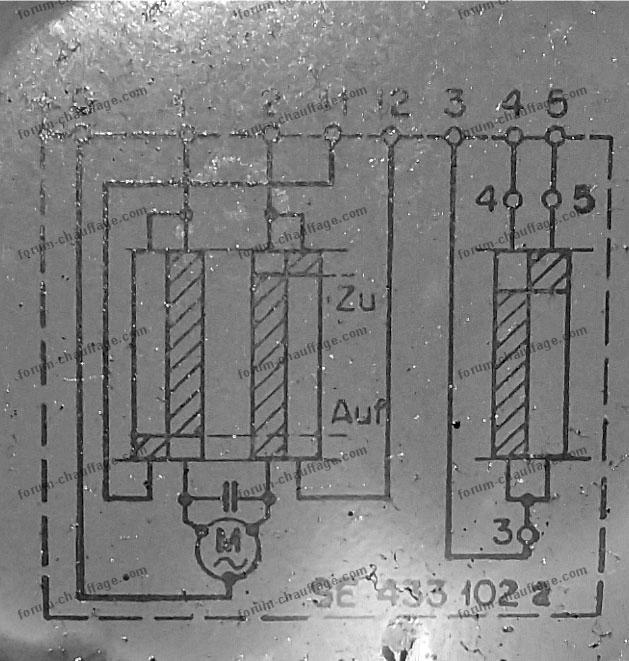 schéma connexion thermostat chaudière forum chauffage