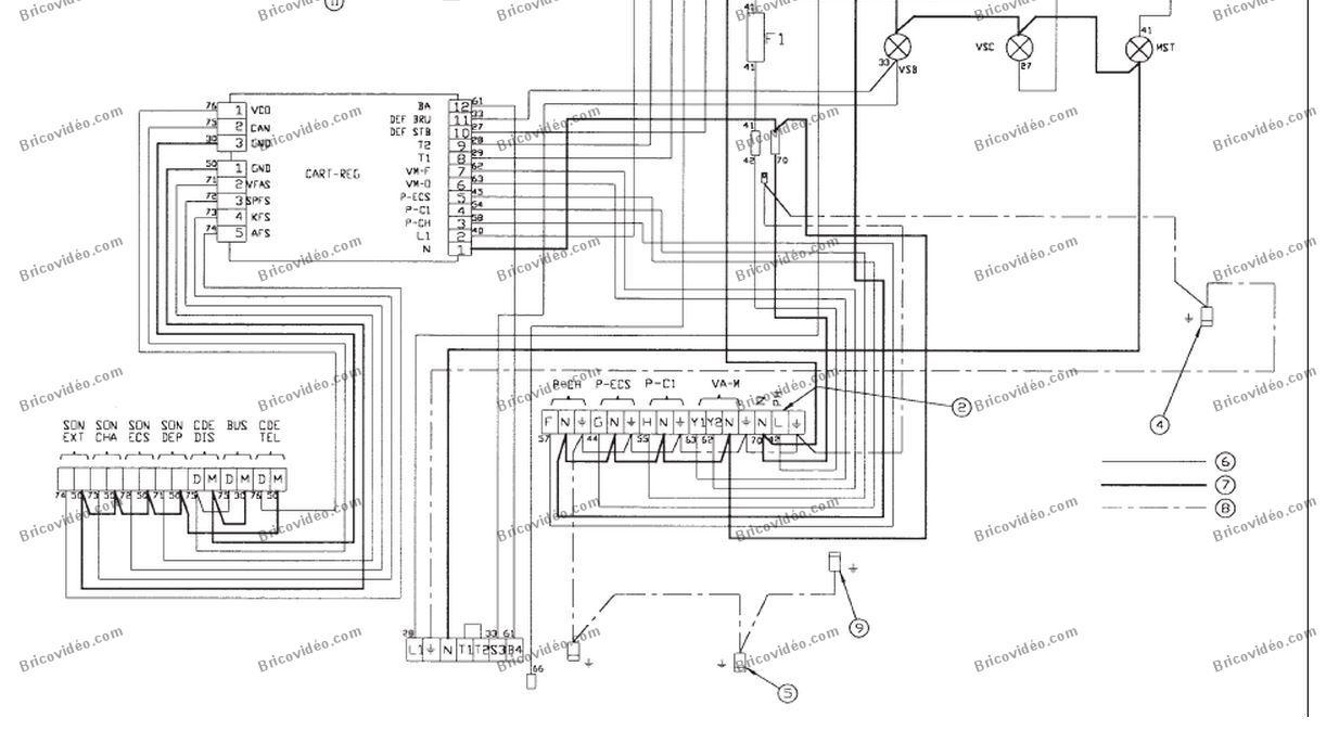 schéma électrique  chaudière Chappée Bora 30 Bi