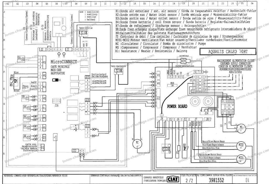 schéma pompe à chaleur Ciat 70 HT