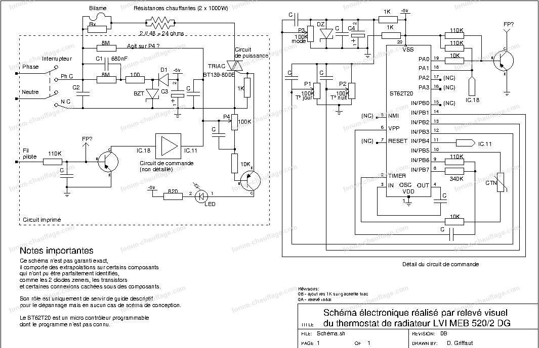 schéma radiateur électrique LVI