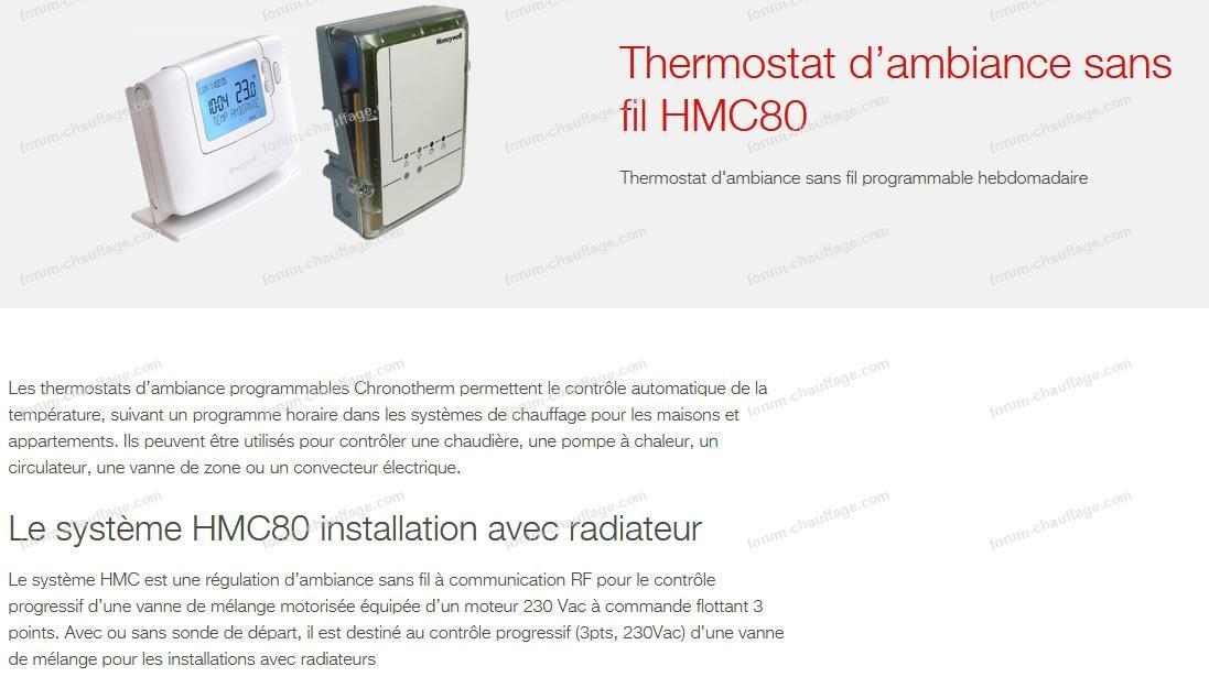 thermostat d'ambiance sans fil HMC80