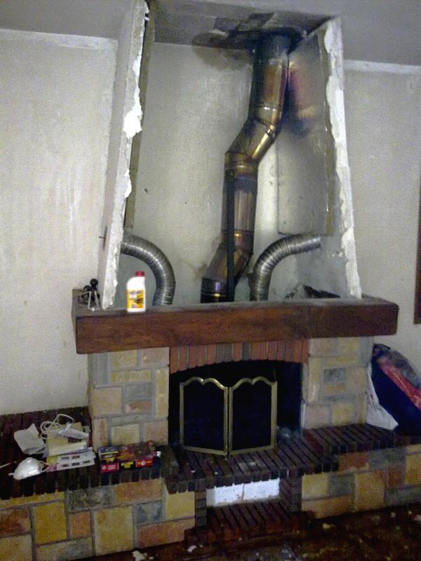 section carrée outils démontage joint insert cheminée déchetterie